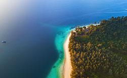 Koh Kradan Aerial Strand Urwald unberührte Insel Thailand