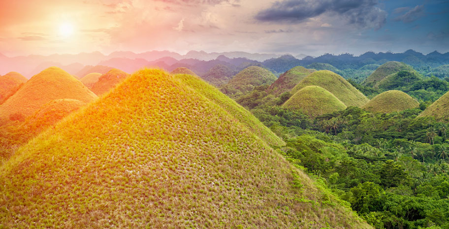 Rundreise Asien Philippinen Chocolate Hills Busrundreise