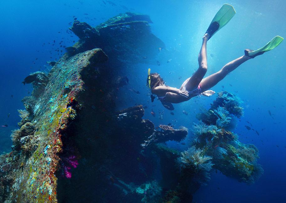 Bali Schnorcheln Schiffswrack U.S.A.T. Liberty buchen