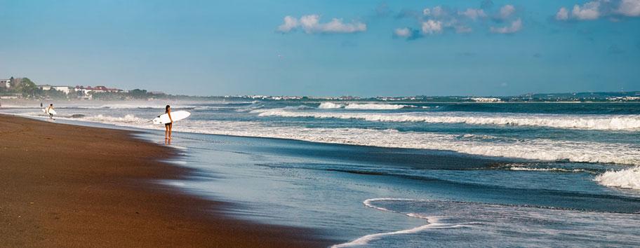 Canggu Bali Strand für Surfer