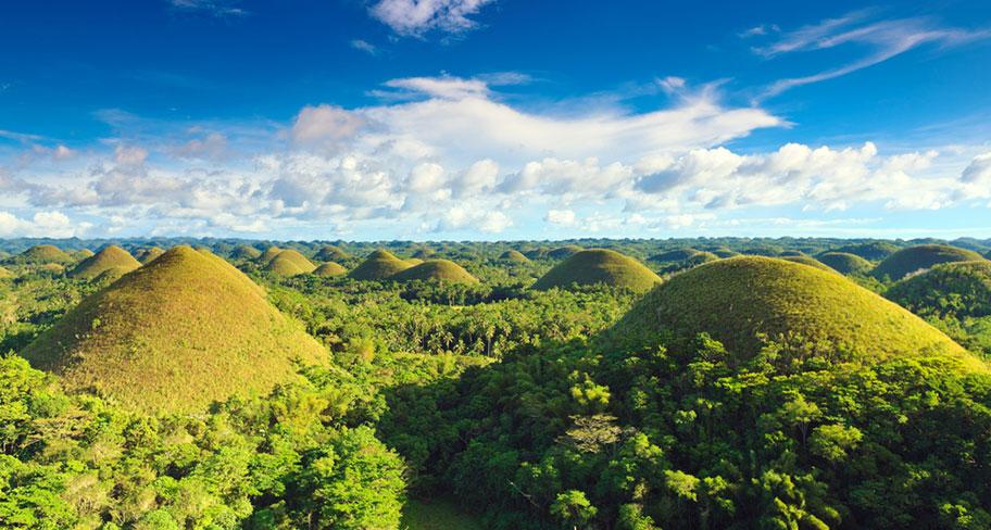 Chocolate Hills Bohol Traumlandschaft Philippinen
