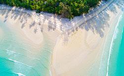 Hängematte Strand Frau Sonnenuntergang Thailand Insel Koh Kood