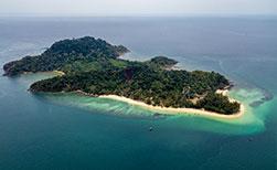 Insel Koh Bulon Thailand Luftaufnahme