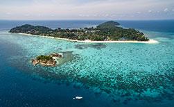 Thailand Insel Koh Lipe Luftaufnahme Korallenriff