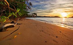 Koh Mak Insel brauner Sand Sonnenuntergang