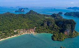 Thailnad unberuerte Insel Koh Yao aerial