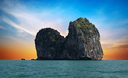 Ma Island in Thailand welche vor der Insel Ko Ngai liegt