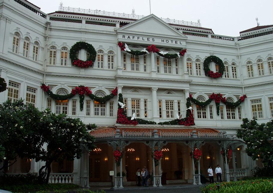 Raffles Hotel in Singapur Kolonialstil