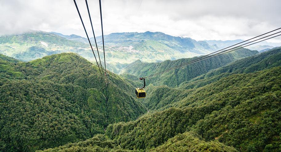 Sapa Bergregion Vietnam mit Seilbahn