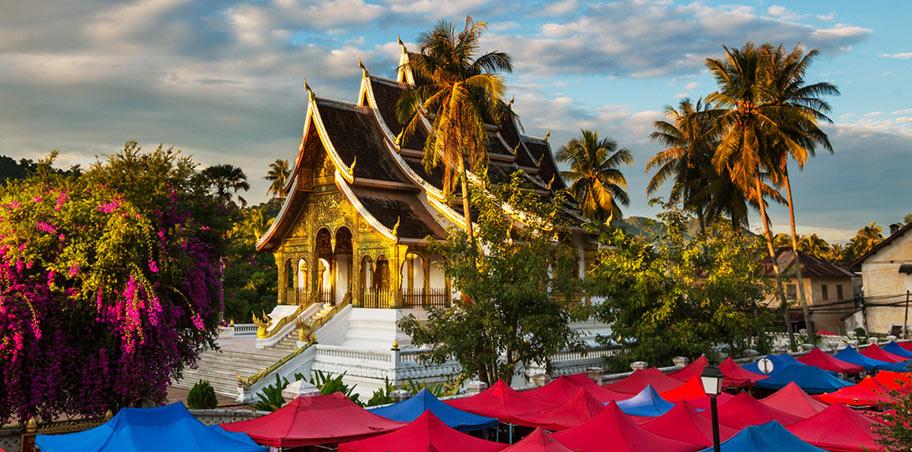 Budhistischer Tempel in Laos