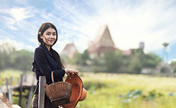 Thai Bevölkerung - Thai Frau Arbeit