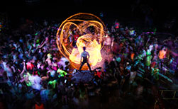 Thailand Fullmoon Party Feuershow Strand