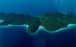 Thailand Inseln Aerial nähe Koh Mak
