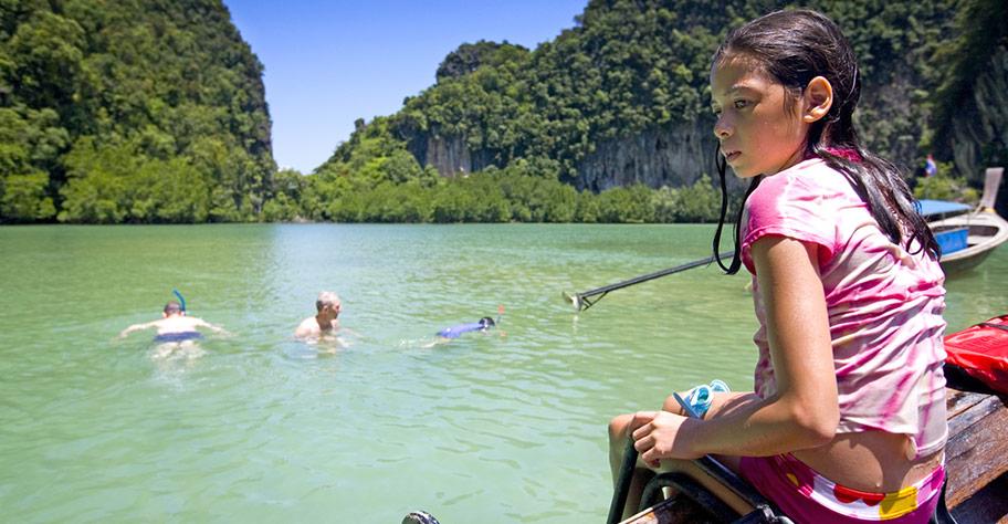 Thailand Reisen mit Kindern nicht Manta