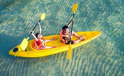 Thailand Urlaub Wassersport Kanu fahren